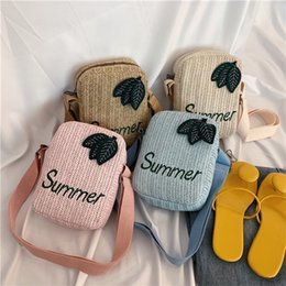 $enCountryForm.capitalKeyWord Australia - 4 colors Summer Straw Square Bucket bag Zipper Design Women Straw handbag Ladies Fashion Beach Leisure Phone Bag designer wallet DHL JY394