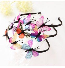 Kinder Simulieren Gefälschte Schmetterlings-Fee-Stirnband Hairband Stirnband-Haar-Band für Geburtstag Karneval Partei-Kopfschmuck Geschenke Accessoires