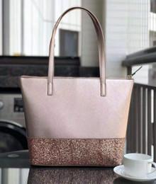Venta al por mayor de Marca desiger new glitter grande bolso de hombro de la mujer Monederos Bolsos de moda totes 5 color