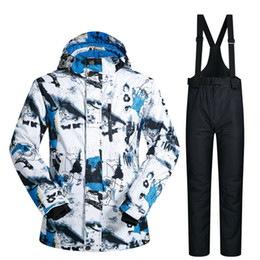 yellow ski suit Australia - Ski Suit Men Winter New Outdoor Windproof Waterproof Thermal Snow Jacket And Pants Clothes Skiing And Snowboarding Suits Brands T190920