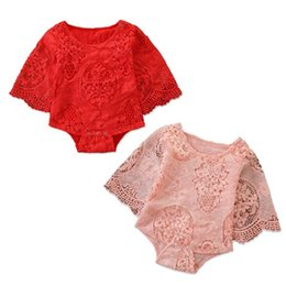 baby girl lace bodysuits NZ - 2019 spring summer infant baby girl clothes flower lace bodysuits INS kids boutique clothing toddler girls rompers newborn onesies jumpsuits