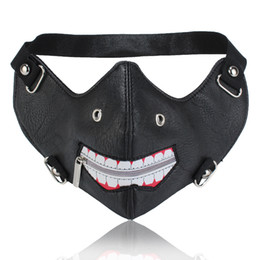 Zipper mask online shopping - Motorcycle Half Face Mask Cover Ski Racing Moto Cycling PU Leather Head Mounted Warm Winter Zipper Open Protecting Face Mask