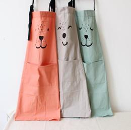 $enCountryForm.capitalKeyWord Australia - 2019 new parent-child cotton sleeveless cartoon apron adult children kitchen apron overalls wholesale custom