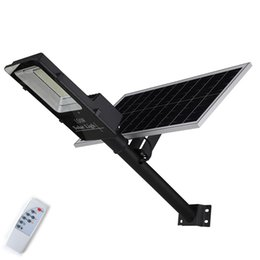 $enCountryForm.capitalKeyWord Australia - New Led Street Light 100W 200W Led Solar Light Wall Lamp with Remote Control Waterproof for Plaza Garden Yard Remote control dimmer