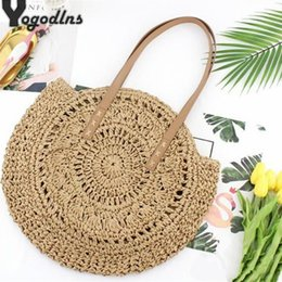 $enCountryForm.capitalKeyWord Australia - Handmade Beach Bags for women Big Straw Handbag Hollow Flower Designer Female Bag Holiday Soft Totes Shopping Shoulder