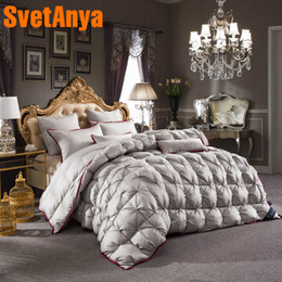 $enCountryForm.capitalKeyWord NZ - Svetanya Goose Down Duvet quilted Quilt thick Comforter 3d Bedding Filler White Gray Pink Yellow Coffee
