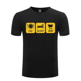 $enCountryForm.capitalKeyWord Australia - Eat Sleep Shop Shopping Funny T Shirt Men Cotton Short Sleeve Tshirt Streetwear Novelty T-Shirt for Men Women Tops Tee Big Size