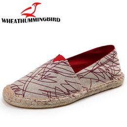 $enCountryForm.capitalKeyWord NZ - Linen Male Casual Shoes Loafers mens Flats Weaving Fisherman Shoes Boy Handmade Flat Espadrilles Elegant driving LA-077