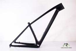 Matte black Mountain bike fraMe online shopping - 2019 newest carbon Mountain Bicycle Frame mtb bike frame er Boost mm with BSA BB30 er tire