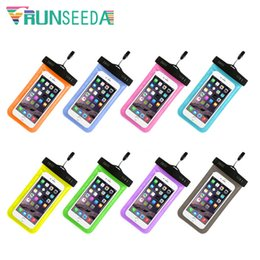 $enCountryForm.capitalKeyWord NZ - Runseeda Swimming Bag Sealed Smartphone Waterproof Pack Universal Mobile Phone Neck Pouch For Beach Diving Surfing Storage Cases