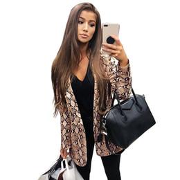 $enCountryForm.capitalKeyWord NZ - England Style Snake Print Blazer Women Long Sleeve Coat Leopard Suit Autumn Winter 2019 Office Lady Work Wear Blazers and Jacket #408547