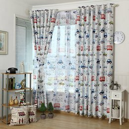 Kitchen For Boys Australia - Cartoon Car Curtain Window Treatments Sheer Curtains For Kids Children Room Living Room Baby Boys 146&30