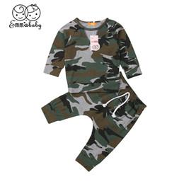 $enCountryForm.capitalKeyWord Australia - Infant Baby Boy Clothes Set Camo Outfit for Newborn Kid Long Sleeve T-shirt+Harem Pants Toddler Girl Children Clothing Set
