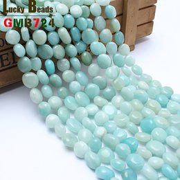 $enCountryForm.capitalKeyWord NZ - natural 8-10mm irregular amazonite natural stone beads for jewelry making 15inches diy beads for making gift free shipping