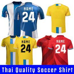 Thai Red Shirts Australia - 18 19 Spanish Men's Soccer Jerseys blue red yellow LOPEZ HERMOSO IGIESIAS Espanyol HOME away third thai quality Football Shirts