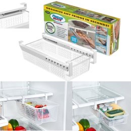 Toys Fridges Australia - Fridge Mate Refrigerator Pull Out Bin and Home Organizer Snap On Drawer To
