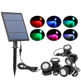 $enCountryForm.capitalKeyWord Australia - Solar Powered Underwater Swimming Pool Light Outdoor RGB Color Changing Solar Spotlight IP68 Waterproof Solar Light Landscaping for Garden