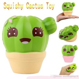 $enCountryForm.capitalKeyWord Australia - Squishies toy 10cm Cactus Scented Squeeze Healing Squishy Slow Rising Soft Stress Relief Toys Phone Straps Keychain Gift Craft Decors 104