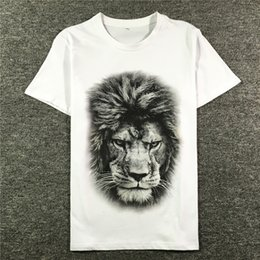 Best Men Hair Australia - 2019 latest best Quality Hair lion printing from Milan Summer clothes Short sleeved Fashion Trend JOKER T-SHIRTS TOPS