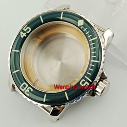 $enCountryForm.capitalKeyWord Australia - wholesale 45mm Sapphire glass watch housing WATCH CASE with bezel fit ETA2836, miyota 8215,8205 automatic movement p830