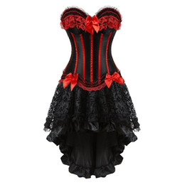 $enCountryForm.capitalKeyWord UK - corsets dress with skirt irregular set burlesque costumes vintage striped lace up corset bustier tank women cosplay plus