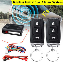 KROAK Universal 1-Way Car Alarm Vehicle System Protection Security System Keyless Entry Siren + 2 Remote Control Burglar from wireless door entry alarm manufacturers