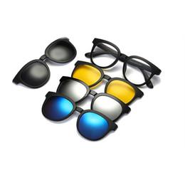 Magnetic clips sunglasses online shopping - Reven Jate Polarized Sunglasses Men Women In Magnetic Clip On Glasses TR90 Optical Prescription Eyewear Frames Eyeglasses