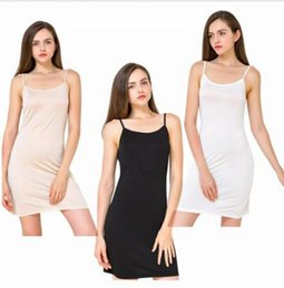 1f1afffc35 womens silk pyjamas 2019 - Sexy Simple Womens Silk Sleepwear Lingerie  Nightgowns Dress Pyjamas Woman Solid