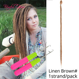 hair hooks Australia - Synthetic Braiding Hair crochet braids hair Extensions 18-26inch Ombre Brown Color Soft Straight Dreadlocks with Crochet hooks Braids Hair