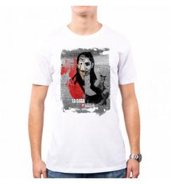 T-SHIRT MAN NAIROBI LA CASA DI CARTA RS0006A mens pride dark t-shirt white  black grey red trousers tshirt suit hat pink t-shirt 1f99756883cc