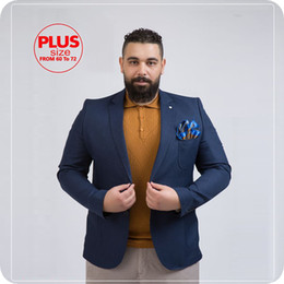 men tuxedo for prom black beige Canada - Navy Blue Men Suits For Wedding Suits Notched Lapel Business Plus Size Custom Made Bridegroom Tuxedos Casual Groom Wear Best Man Blazer Prom