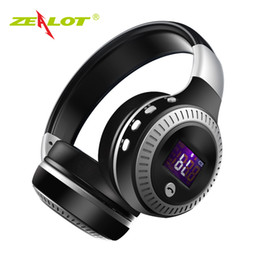computer wireless headphone microphone Australia - Zealot B19 Bluetooth Headphones With Microphone Stereo Bass Headsets For Iphone Mobile Computer Wireless Earphones With Fm Radio J190506