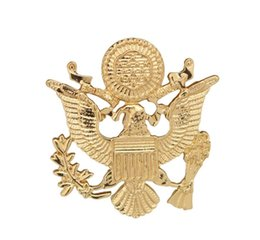 wing collar brooches UK - Luxury US Army Eagle Wings Brooch Badge Men's Suit Brooch Fashion Retro Brooches Metal Collar Pin wholesale 12pcs lot