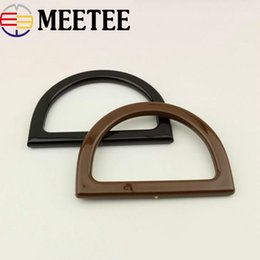 handbag frames wholesale Canada - 5Pcs D Ring Bag Handles For Crochet Obag Resin Buckles For Handbag Wallet Purse Frame Clasp DIY Bag Hanger Accessories KY959