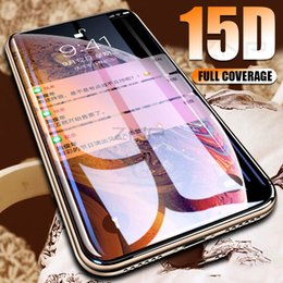 $enCountryForm.capitalKeyWord Australia - 15D Curved Edge Screen Protector Tempered Glass For iPhone 7 8 6 6s Plus Protective Glass on the For iPhone X XS Max XR Film
