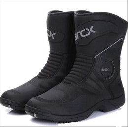 Chopper Cruiser online shopping - Motorcycle Boots Moto Riding Boots waterproof Cow Leather Motorbike Biker Chopper Cruiser Touring Ankle Shoes Motorcycle Shoes