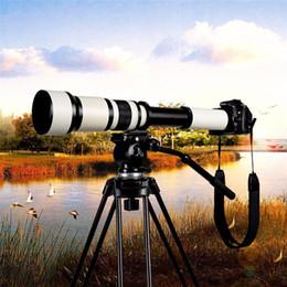 Objectif de caméra 650-1300mm F8.0-16 avec zoom ultra téléobjectif avec monture en T pour caméra Canon 500D 550D en Solde