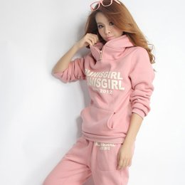 Womens Beige Casual Suit Australia - 3pcs Fleece Tracksuits Sets For Womens Sportwear Hoodies Hooded Casual Outerwear Sweatshirt +Vest +Full Pants Women Suits