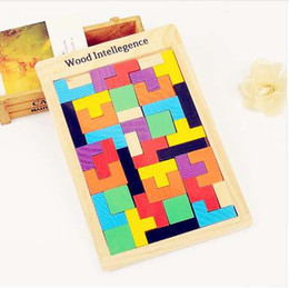 educational board games 2019 - 3D Wooden Puzzles Jigsaw Board Toys Tangram Brain Teaser Children Puzzle Toys Tetris Game Educational Kid Toys Gifts New