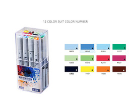 Note 12 Australia - Amazon hot 12 color alcohol marker set Student art painting professional design double oily marker wholesale