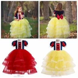 $enCountryForm.capitalKeyWord Australia - Amazon hot sell baby girls Snow White princess dress children cake layer ball gown tutu skirts kids boutiques cosplay costume clothes