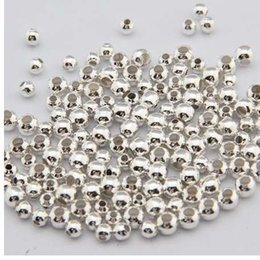 Ball Spacers Australia - 500pcs lot 2mm 2.5mm 3mm gold-color Silver Plated Smooth Round Spacers ball Beads DIY making for jewelry necklace bracelet