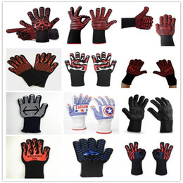 500 Celsius Heat Resistant Gloves 35cm Oven BBQ Baking Cooking Mitts Insulated Silicone Microwa Gloves Kitchen Tastry Tools LJJA3389-14 on Sale