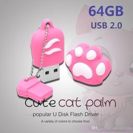 $enCountryForm.capitalKeyWord Australia - Real Capacity Cute usb flash drive cat claw pen drive 16gb~128gb
