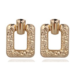 $enCountryForm.capitalKeyWord UK - Vintage Big Geometric Square Statement Earrings For Women Earings Fashion Jewelry Modern Women's Earrings Brincos CE468