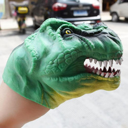 dino toys 2019 - Head Figure Puppet Gloves Toys Soft TPR Dinosaur Hand Puppet Children Realistic Dino Model Hand Toy For Stories Gifts Di