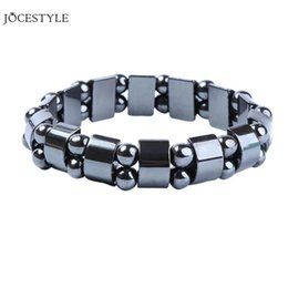 Discount stone bracelet health - Weight Loss Round Black Stone Magnetic Therapy Bracelet Health Care Magnetic Hematite Stretch Bracelets
