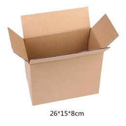 Beer Pack Australia - 10pcs lot Wholesale Kraft Paper Mailing Box Express Transportation Corrugated Packing Box 26*15*8cm