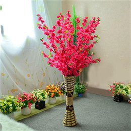 $enCountryForm.capitalKeyWord Australia - 65cm Artificial Flowers Peach Blossom Simulation Flower For Wedding Decoration fake Flowers Home Decor