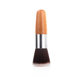 foundation bamboo UK - Professional Bamboo brush makeup tools synthetic hair blush foundation brushes for women drop shipping
